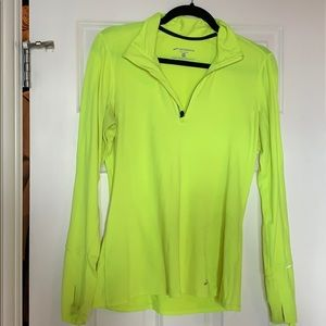 Yellow Brooks Womens Running Pullover. Size M